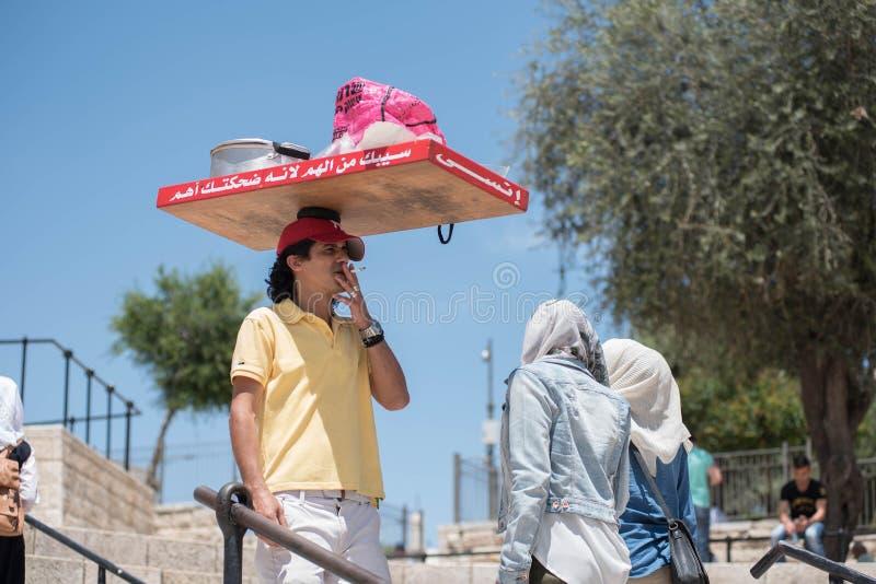 Personnes musulmanes palestiniennes à Jérusalem photos libres de droits