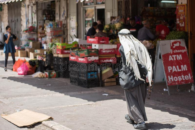 Personnes musulmanes palestiniennes à Jérusalem photo libre de droits