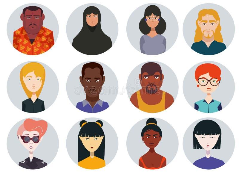Personnes réglées d'icônes illustration stock