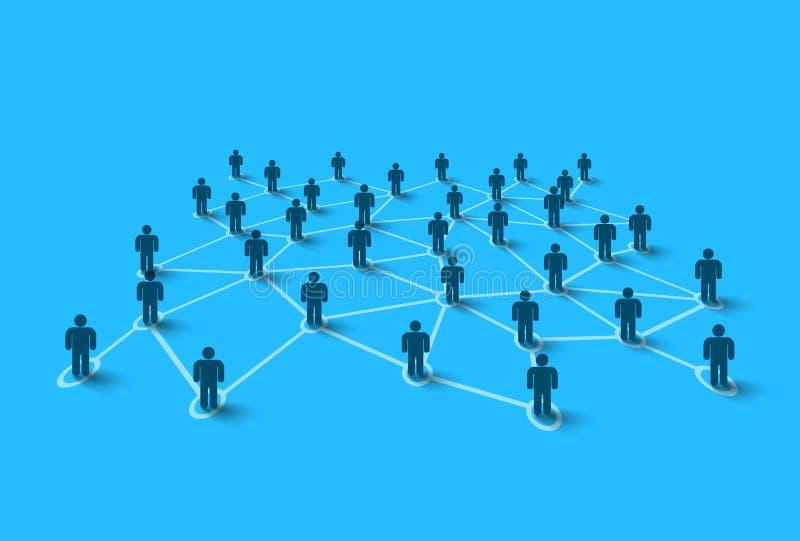 Personnes se reliantes le concept a digitalement produit salut du social de recherche de réseau d'image illustration de vecteur