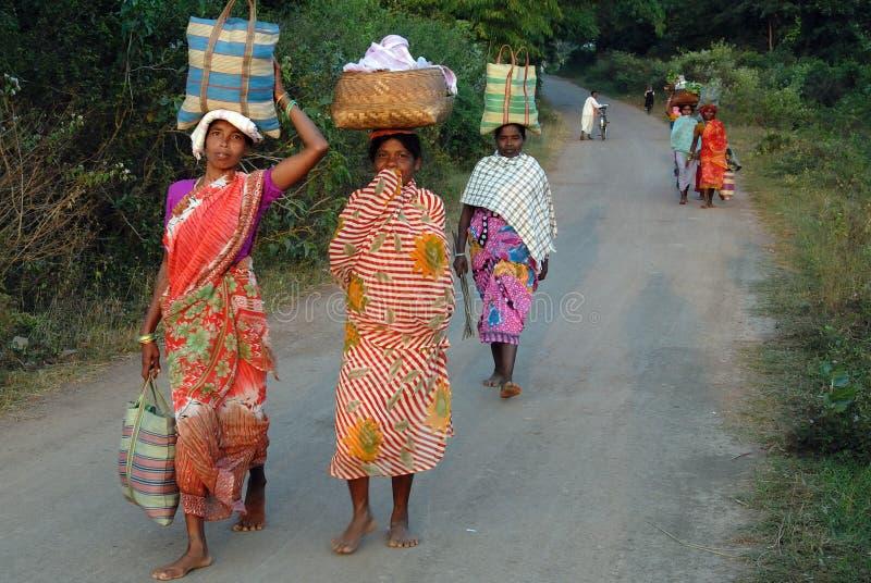 Personnes tribales en Inde photo libre de droits