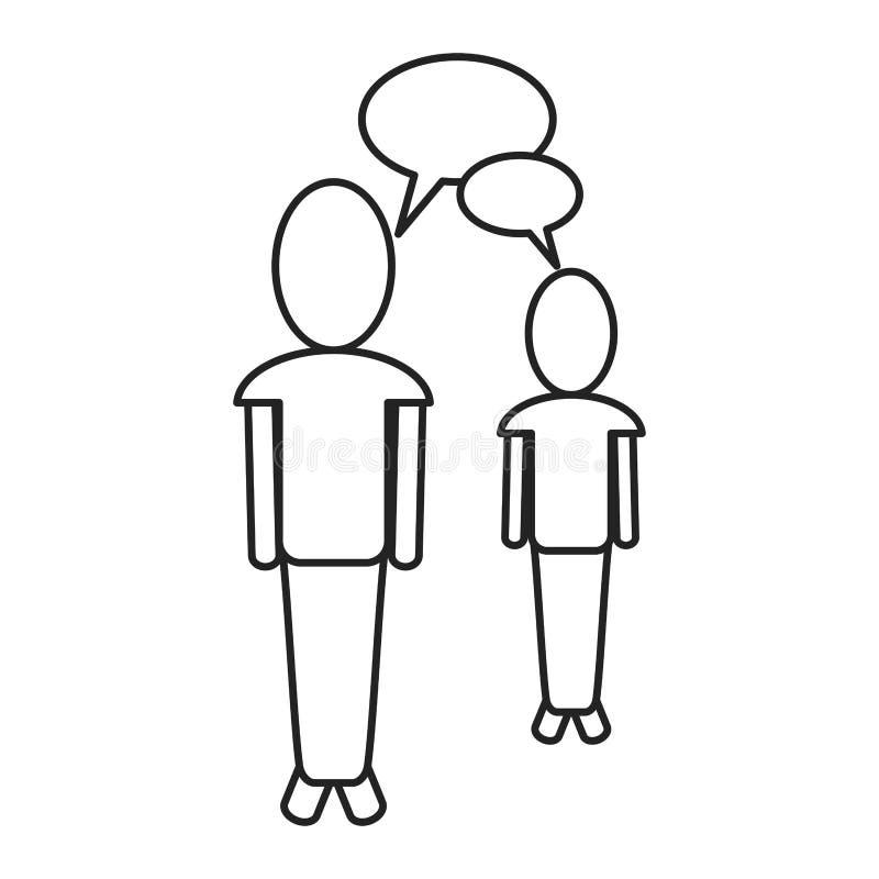 Persons gawędzenia dialog światowa opowiada cienka linia royalty ilustracja