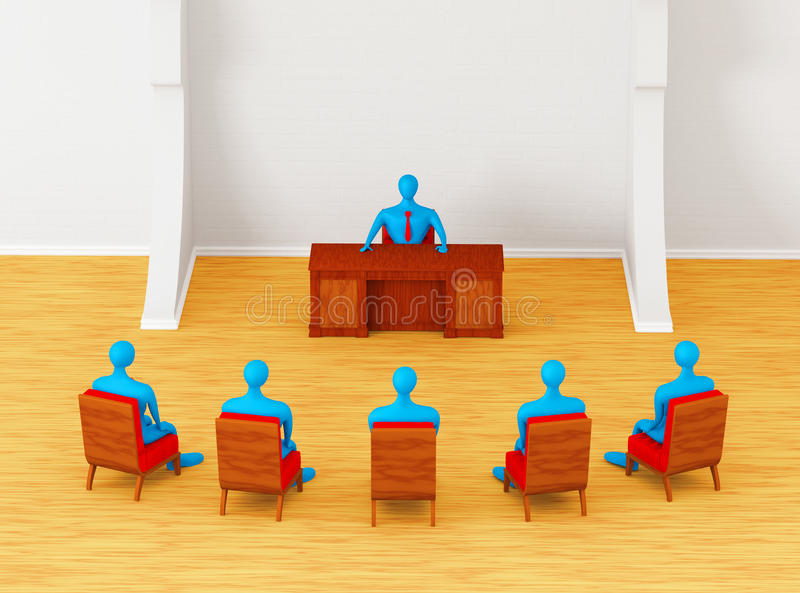 Persons having business meeting stock illustration