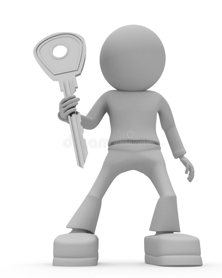 Download Persons keeps door key stock illustration. Image of realty - 9224626