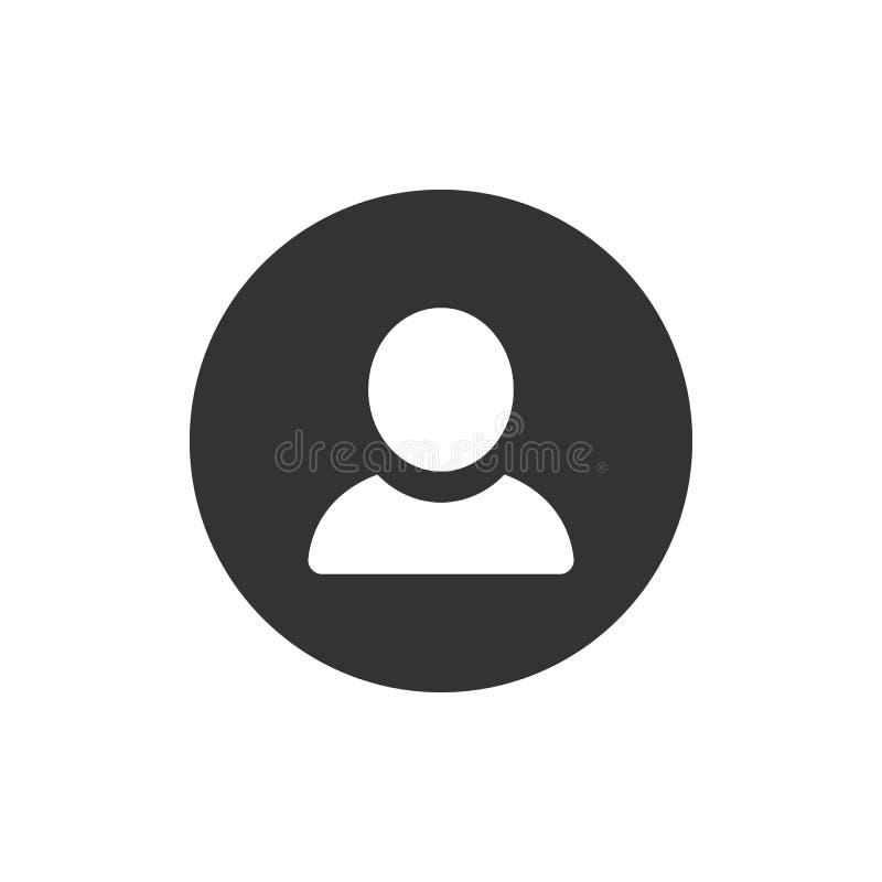 Personsymbol Vektorsymbol på vit bakgrund stock illustrationer