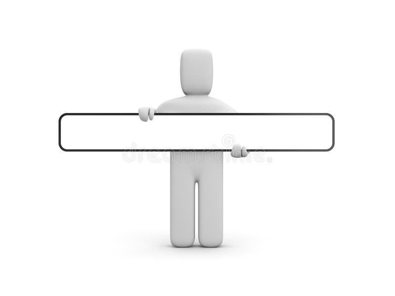 Persoon met aanplakbord vector illustratie