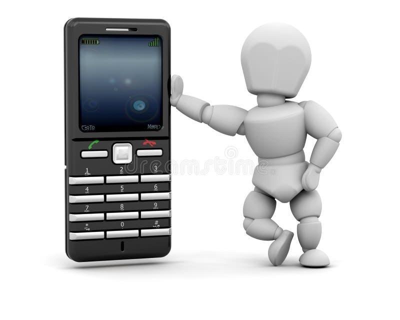 Persoon met mobiele telefoon vector illustratie
