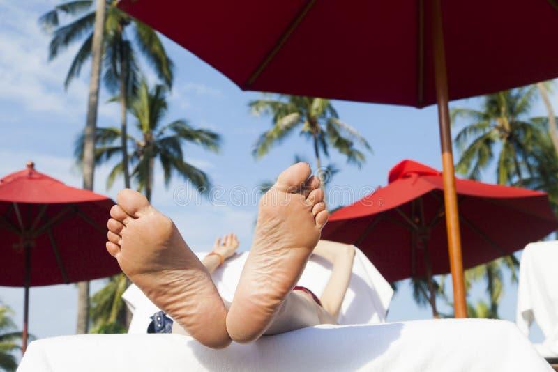 Persoon op vakantie royalty-vrije stock afbeeldingen