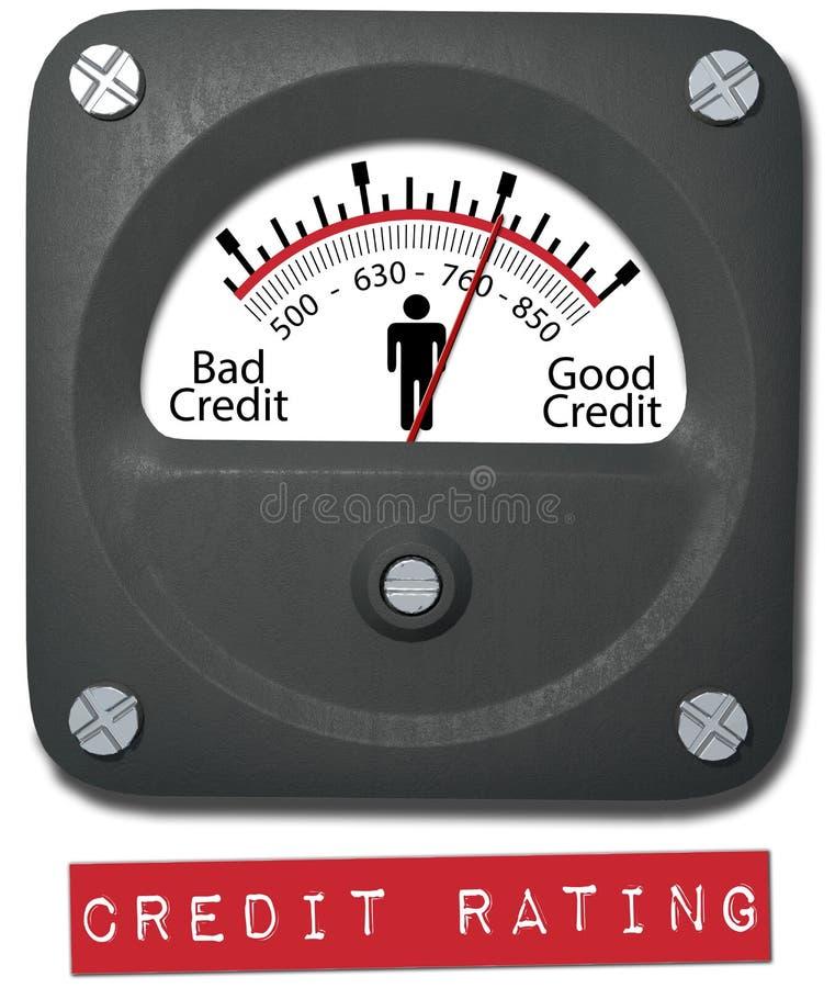 Persoon van het de kredietstandaardrapport van meter de goede  royalty-vrije illustratie
