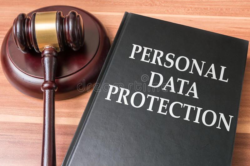 Persoonlijk gegevensbescherming en veiligheidsconcept stock foto's