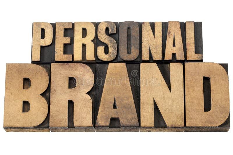 Persoonlijk merk in houten type royalty-vrije stock foto