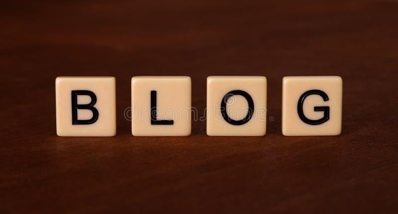 Persoonlijke Blogkrantekop Sociaal voorzien van een netwerkconcept royalty-vrije stock afbeeldingen