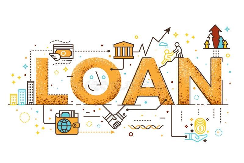 Persoonlijke leningsillustratie stock illustratie