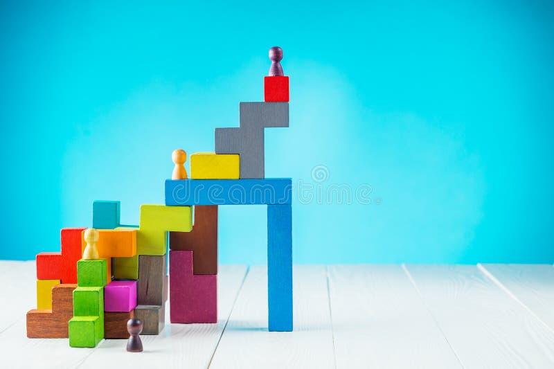 Persoonlijke ontwikkeling, de persoonlijke en carrièregroei, vooruitgang en potentieel stock afbeeldingen