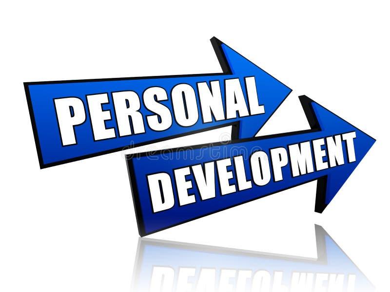 Persoonlijke ontwikkeling in pijlen vector illustratie