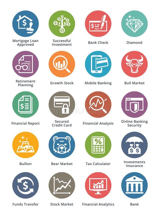 Persoonlijke & plaatsen de Bedrijfsfinanciënpictogrammen 1 - Dot Series royalty-vrije illustratie
