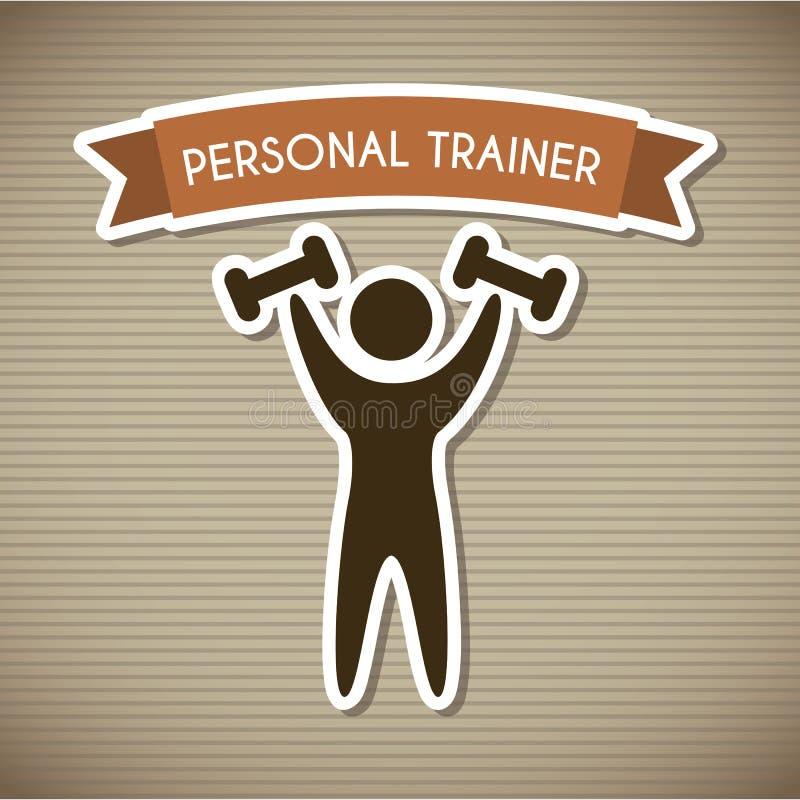 Persoonlijke trainer stock illustratie