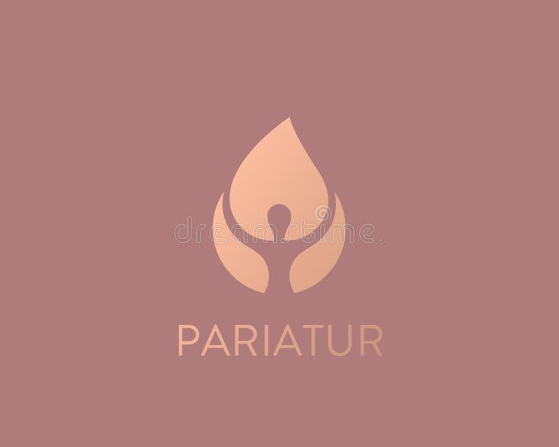 Persoonsbrand logotype Menselijk vlam vectorembleem vector illustratie