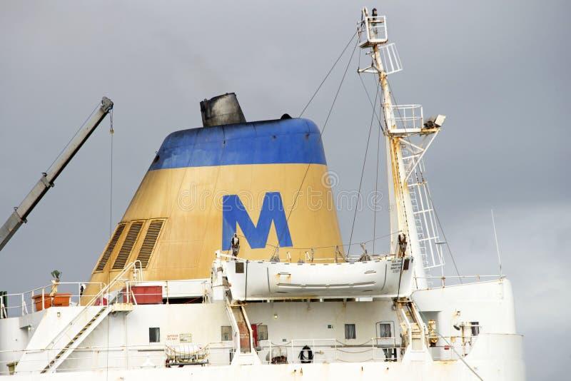 36 persoonsreddingsboot aan boord van SS MAUI stock afbeeldingen