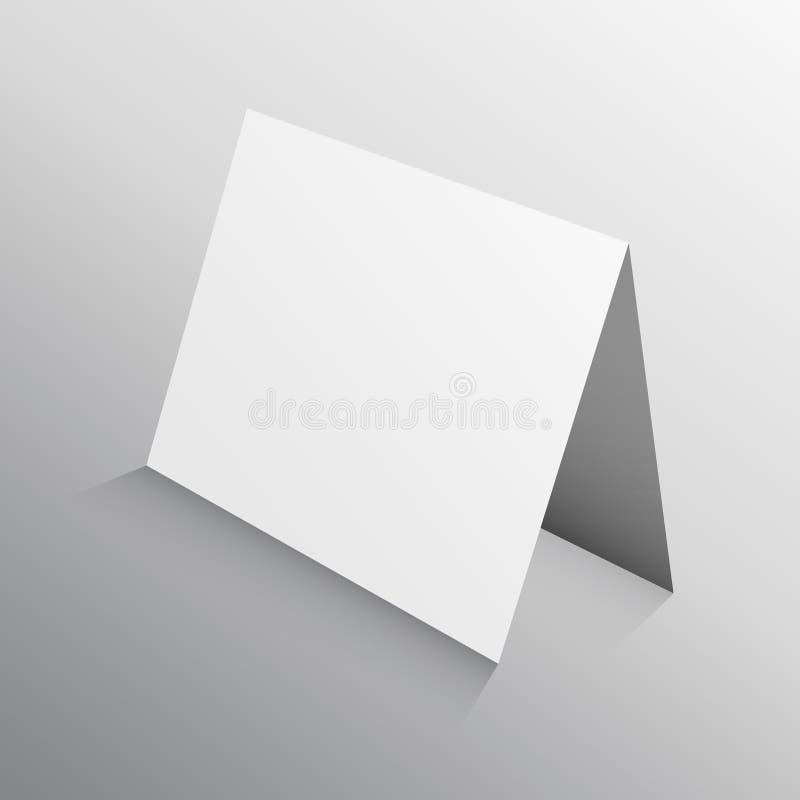 Perspectief gevouwen document kaart in 3d Modelmalplaatje royalty-vrije illustratie