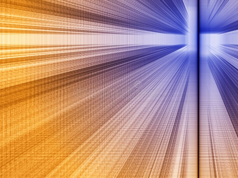 Perspectief: oranje-blauw stock illustratie