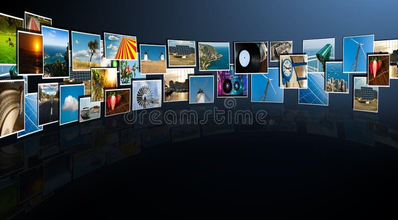 Perspectief van beelden die van diep stromen royalty-vrije stock foto's