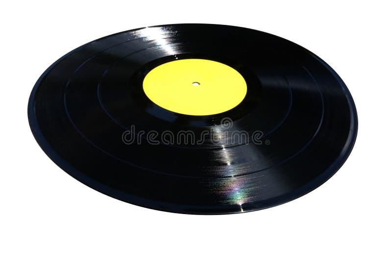 Perspectiefmening van een vinyldieverslag op wit wordt geïsoleerd royalty-vrije stock foto's