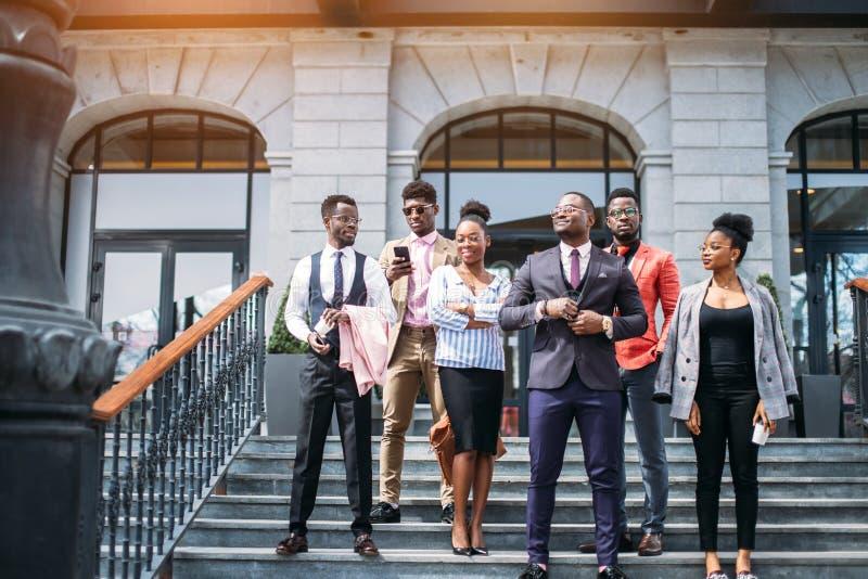 Perspectiefzaken met ambitieuze mensen Onthaal aan ons Bedrijf stock foto's