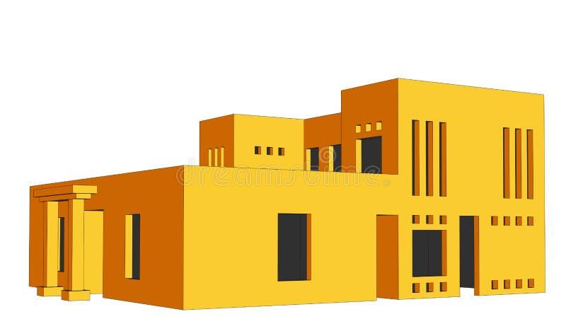 Perspectiva 2 da casa ilustração do vetor