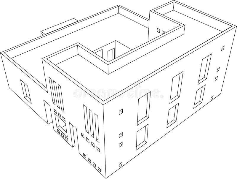 Perspectiva 6 da casa ilustração do vetor