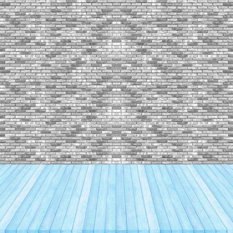 Perspectiva azul del color en colores pastel del piso de for Pisos de madera color gris