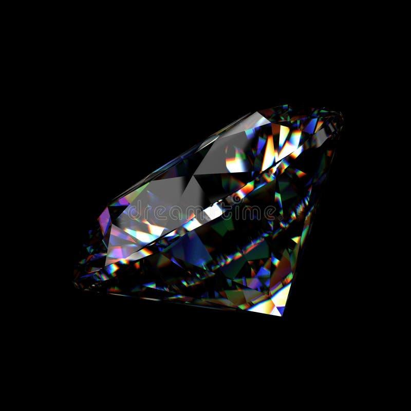 perspectiva brilhante do diamante do corte 3d ilustração do vetor