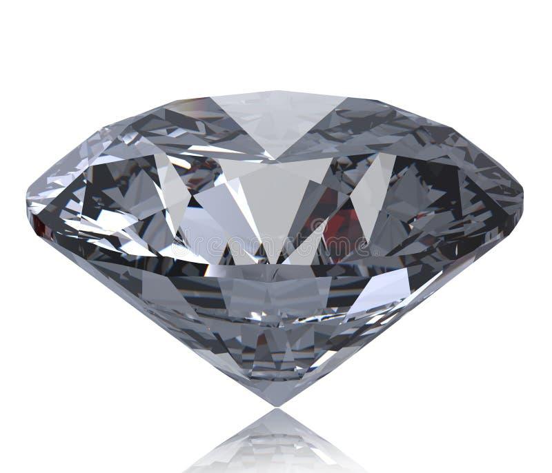 Perspectiva brilhante redonda do diamante do corte isolada ilustração do vetor