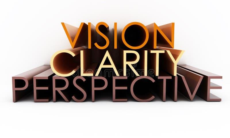 Perspectiva da claridade da visão ilustração stock