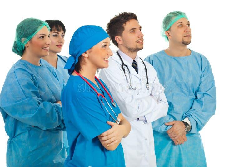 Perspectiva da equipe dos doutores imagem de stock royalty free