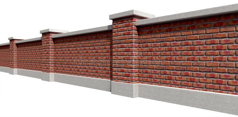 Perspectiva de Facebrick da parede do jardim fotos de stock