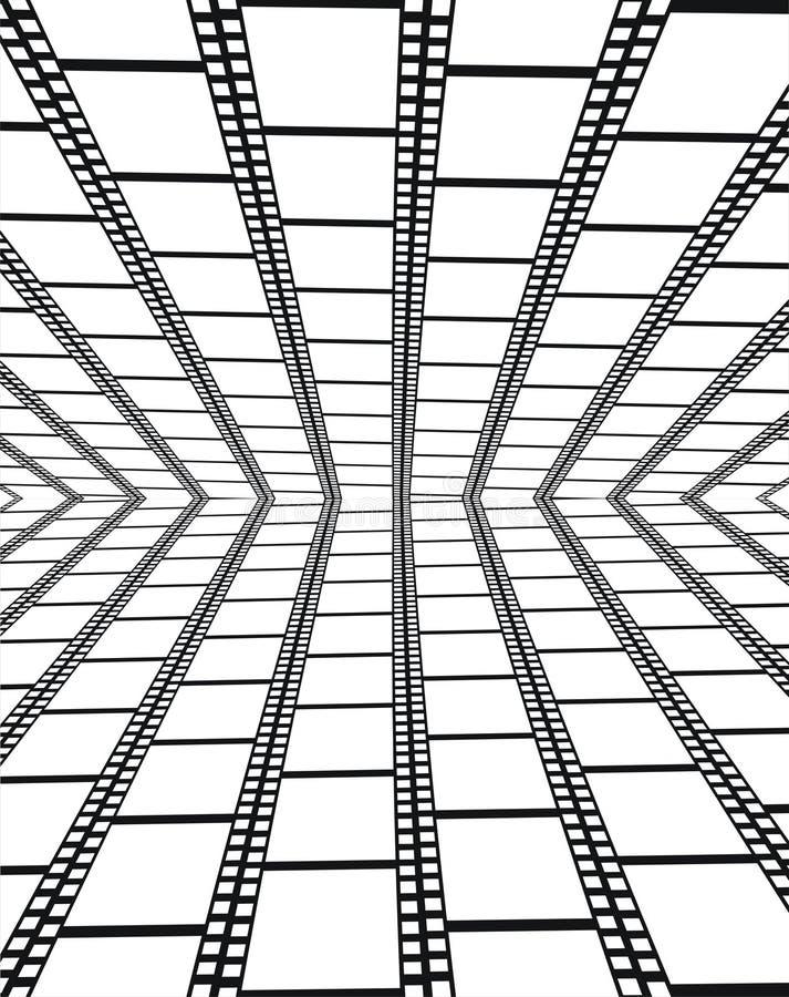 Perspectiva de filmstrips vazios - fundo ilustração royalty free