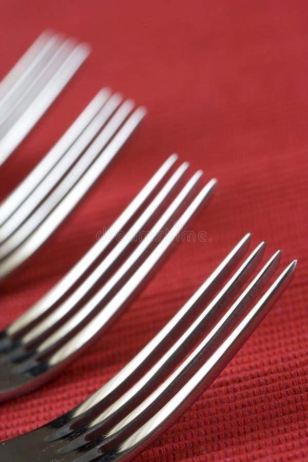 Perspectiva de la fork foto de archivo