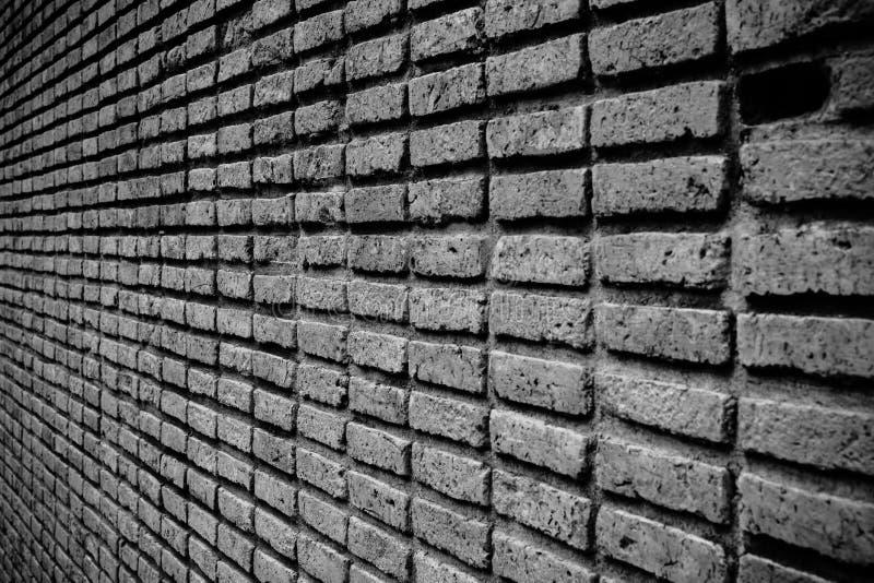 Perspectiva de la pared de ladrillo imagen de archivo