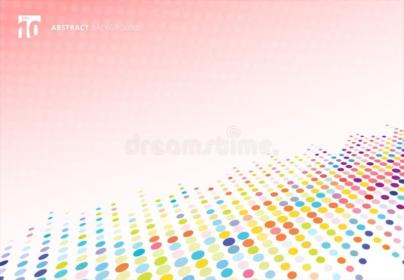 Perspectiva de semitono colorida abstracta del modelo de puntos de la textura en p libre illustration
