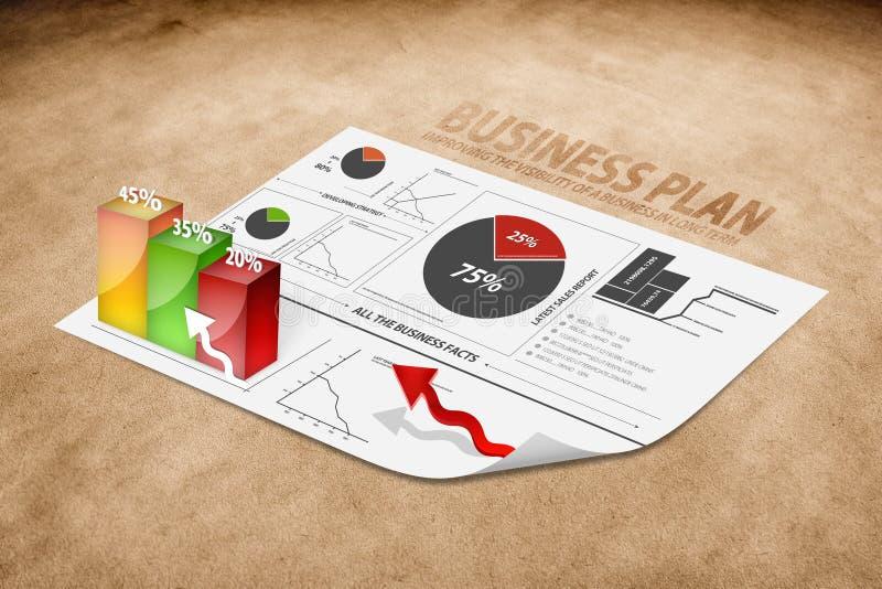 Perspectiva de un plan empresarial imágenes de archivo libres de regalías