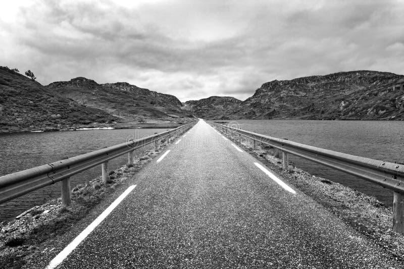 Perspectiva del camino fotos de archivo