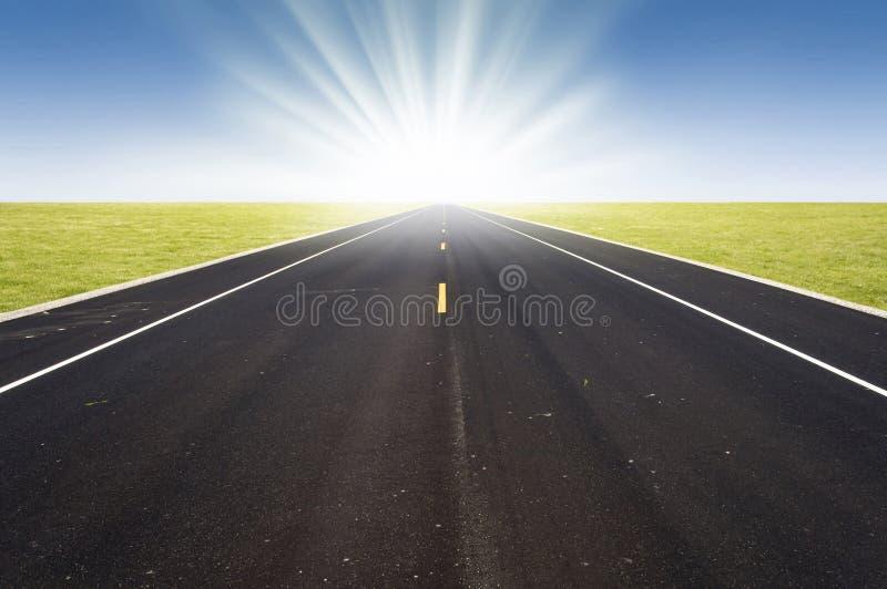 Perspectiva del camino imagen de archivo libre de regalías