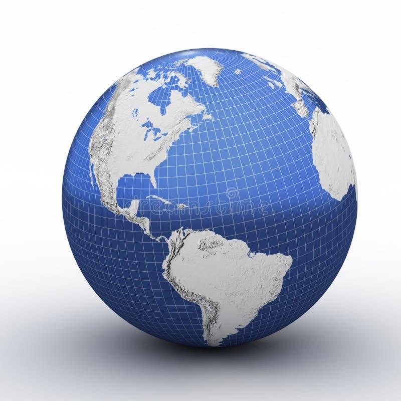 Perspectiva del globo con red ilustración del vector
