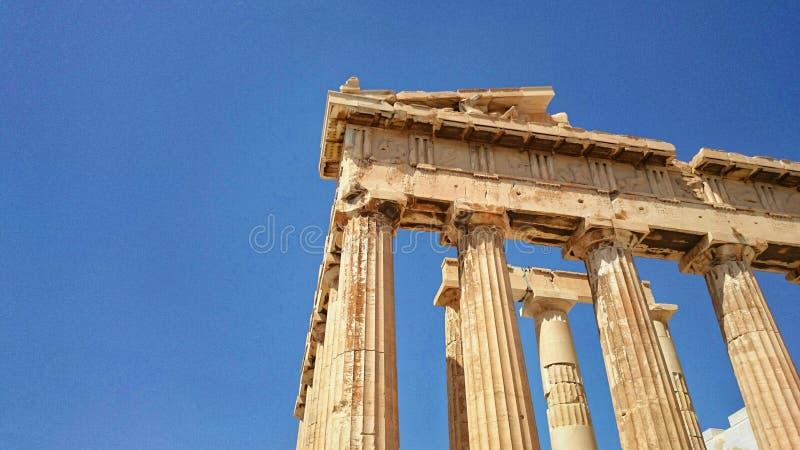 Perspectiva del Parthenon fotografía de archivo
