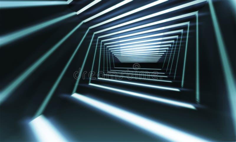 Perspectiva del pasillo del extracto 3 d libre illustration