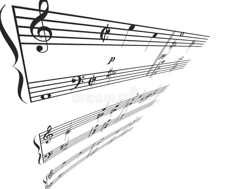 Perspectiva do ângulo da música ilustração royalty free