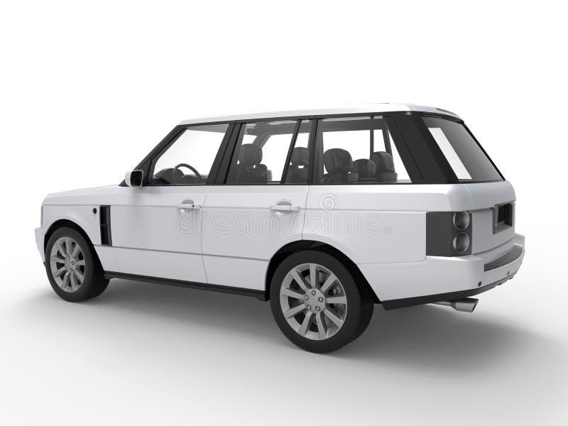 Perspectiva do carro de SUV ilustração do vetor
