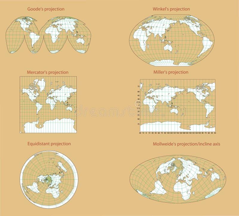 Perspectiva do mundo. ilustração royalty free