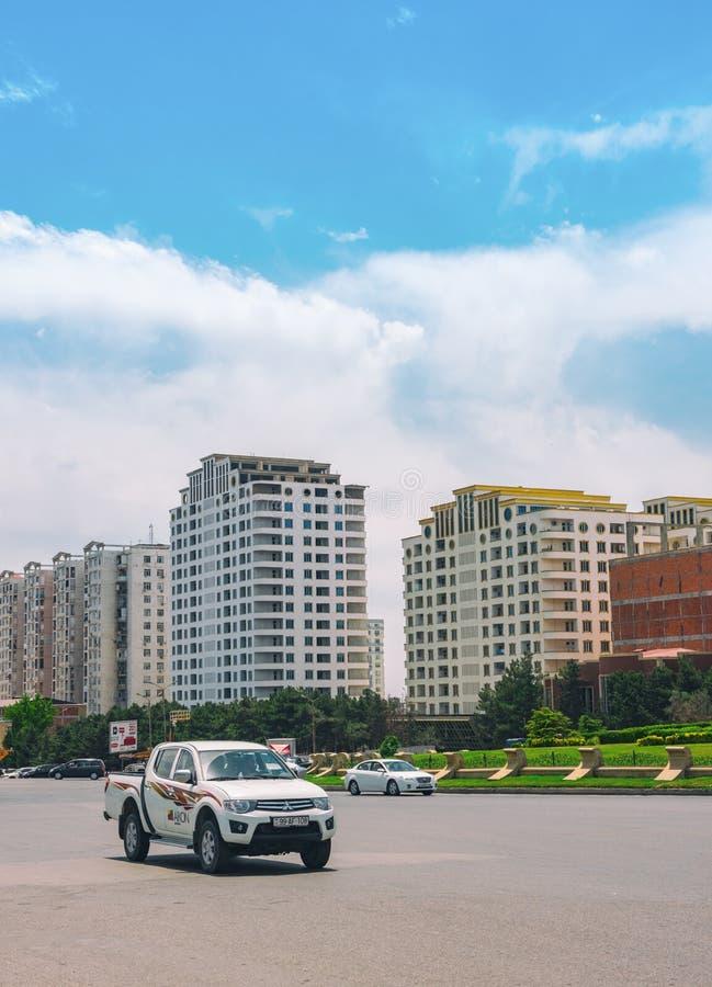 Perspectiva em Baku foto de stock royalty free